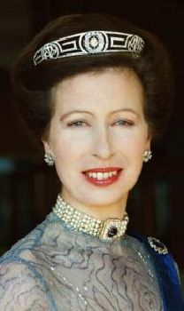 HRH Princess Anne, The Princess Royal. The lesson here is to wear either a tiara or a choker, but not both at the same time!