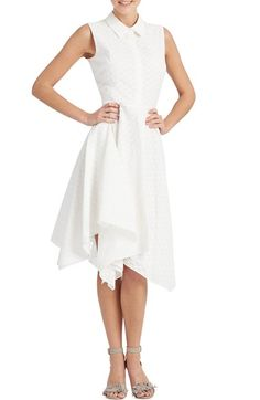 Donna Morgan Collared Eyelet Fit & Flare Dress available at #Nordstrom