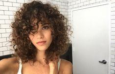 Curly hair cuts, short curly hair, wavy hair, her hair, curled hair Curly Hair With Bangs, Curly Hair Cuts, Short Curly Hair, Wavy Hair, Short Hair Cuts, Curly Hair Styles, Natural Hair Styles, Middle Part Curly Hair, Thin Hair