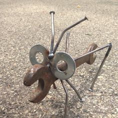 Wrench Grasshopper Recycled Garden Yard Art by nbillmeyer on Etsy