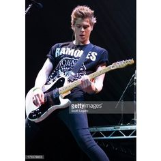 Luke Hemmings of 5 Seconds of Summer performs at The Palace of Auburn...