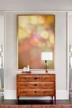 """Abstract Photography - lights bokeh photography brown purple orange large abstract art 24x36 16x24 30x45 large wall decor """"Falling Laughter"""" by LynnLangmade on Etsy"""