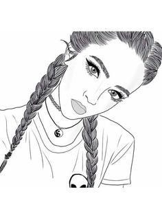 resultado de imagem para desenhos de meninas tumblr facil