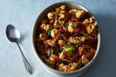 Pimenton Roasted Cauliflower (Smoked Sweet Spanish Paprika, cumin, onion,carrot, veggie chorizo & pine nuts)