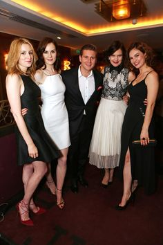 Laura, Michelle, Allen, Elizabeth, and Lily   The Downton Abbey Wrap Party At…