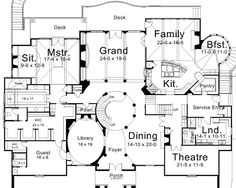 First Floor Plan image of Ramboulett House Plan