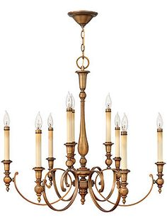 Yorktown Colonial Chandelier With 9 Lights   House of Antique Hardware