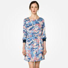 Lacoste Live satin printed dress -