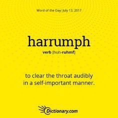 harrumph