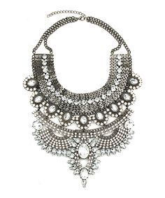 Love this Silvertone Bold Necklace by Eye Candy LA on #zulily! #zulilyfinds