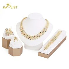 New jewelry set for women pendant accessories. This jewelry set for women pendant accessories colorful African gold plated necklace earrings bracelet ring set wedding bridal,this can be wear to a wedding to Patty and Club very beautiful. Jewelry Necklaces