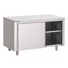 tables-armoires-inox Kitchen Cupboards, Layout Design, Lockers, Corner Desk, Locker Storage, Cabinet, Furniture, Rvs, Home Decor