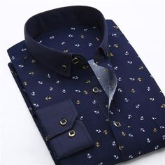 2017 Retro Floral Printed Man Casual Shirts Fashion Classic Men Dress Shirt Breathable Men's Long Sleeve Brand Clothing - / Asian L Label 40 Chemise Fashion, Slim Fit Casual Shirts, Only Shirt, Men Dress, Shirt Dress, Collar Dress, Business Casual Men, Business Wear, Formal Shirts