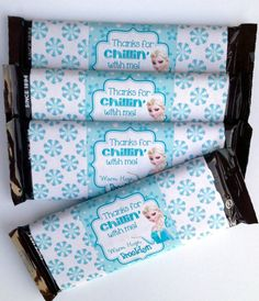 Personalized Frozen Candy Bar Cover Wrapper Chocolate Birthday Party Goody Bag Decoration Printable on Etsy, $4.50
