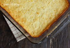 Make-Over Corn Casserole - Corn casserole, a cross between of a corn pudding and a corn bread is a wonderful addition to anyone's holiday table.