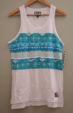 fcef4f61e4195 NEFF Skate • Whit Blue Men s Tank Top T-Shirt Size M