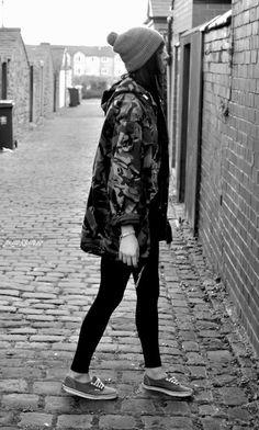 street style rocking grunge! #street #fashion #grunge