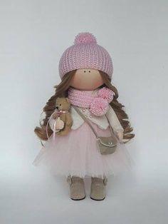 Fabric Doll Pink Doll Nursery Doll Collectable Doll Cloth Doll Baby Doll Rag Doll Interior Doll Tilda Decor Doll Handmade Doll by Irina E __________________________________________________________________________________________ Hello, dear visitors! This is handmade cloth doll