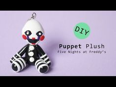 Five Nights at Freddy's Puppet Master/ Marionette Plush Version Polymer Clay Tutorial - YouTube