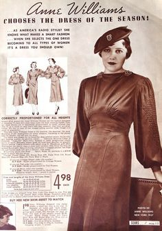 Sew Something Vintage: Sears Roebuck & Co. Fall & Winter 1937/1938