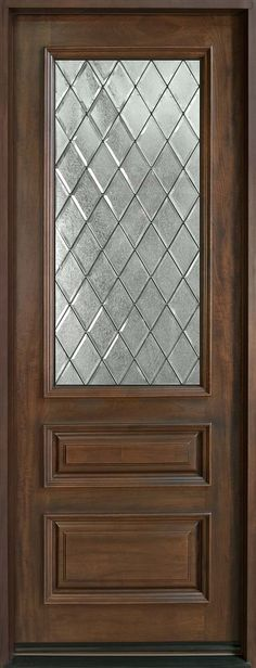 Exterior Entry Doors with 1 Sidelight - Solid Mahogany Entry Doors ...