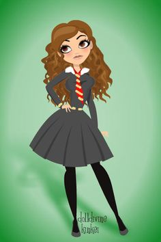 Hermione Granger ~ by ironkitten ~ created using the Pin Up Deluxe doll maker…