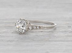 1.51 Carat Edwardian Engagement Ring