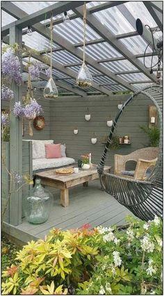 Most Stylish and Coziest Backyard Patio Ideas To Copy Cozy backyard, Backyard patio, Backyard patio designs, Patio deck designs, … Backyard Patio Designs, Pergola Designs, Backyard Landscaping, Landscaping Ideas, Backyard Ideas, Porch Ideas, Small Patio Design, Front Patio Ideas, Small Garden Decking Ideas