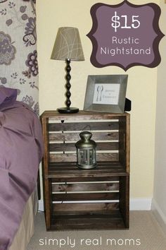 DIY End Tables with Step by Step Tutorials - DIY Rustic Nightstand - Cheap and Easy End Table Projects and Plans - Wood, Storage, Pallet, Crate, Modern and Rustic. Bedroom and Living Room Decor Ideas Diy Nightstand, Decor, Furniture, Diy Home Decor, Home, Home Diy, Diy End Tables, Rustic Nightstand, Home Decor