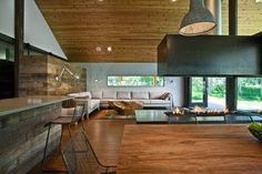 Love the fireplace in this Park City remodel. Photo Friday: Homeowner's own remodel | Utah Style & Design