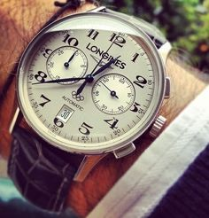 Longines Automatic Chronograph Olympics leather strap pure class