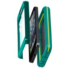 iPhone 5 Tough Xtreme Cases - Olo by Case-Mate - Emerald Green/Chartreuse Green. US Mil-Spec Approved: meets or exceeds US military testing. Protects against: shock/drop, wind/rain, sand/dust, and vibration. Slim profile adds style, not bulk. Textured exterior for enhanced grip.