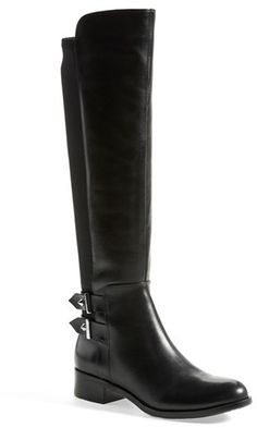 Ivanka Trump 'Onna' Knee High Boot (Women) Lush suede defines a quintessential knee-high boot fashioned with a stretch back panel to ensure a perfect fit.