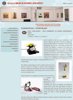 """La noticia de la exposición en Gabrovo en la WEB del museo """"House of Humor"""""""