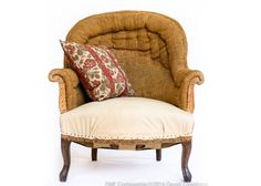 Antique French Armchair, Napoleon III. Authentic and one-of-a-kind.