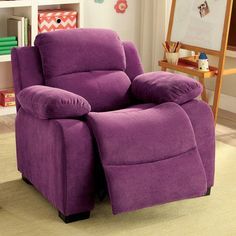 Viv + Rae Cinco Bayou Kids Recliner with Storage Compartment Color:
