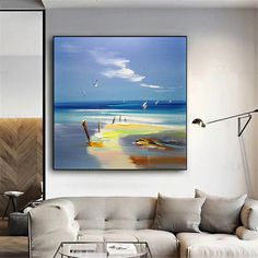 Abstract painting wall art pictures for living room wall decor home decoration Original acrylic gold landscape blue thick texture seascape Wall Decor Pictures, Living Room Pictures, Landscape Artwork, Abstract Landscape, Ocean Paintings On Canvas, Painting Canvas, Abstract Canvas, Art Mur, Photo D Art
