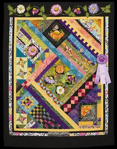 2013 Quilt Expo Quilt Contest, Honorable Mention, Category 7, Wall Quilts, Machine Quilted Pieced: Beyond the Block, Nancy Moore, Wabash, Ind.