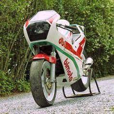 All Dirt/Street Tracker Cafe' Bikes aside. This1986 Bimota DB1R road racer is stunning.