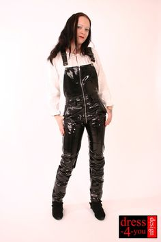 Leather Overalls, Leather Pants, Leather Catsuit, Yellow Raincoat, Latex Girls, Jeans Rock, Leather Dresses, Dungarees, Black Faux Leather