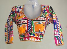 Kutch Thread Work Full Sleeves Blouse Price: 6,000INR