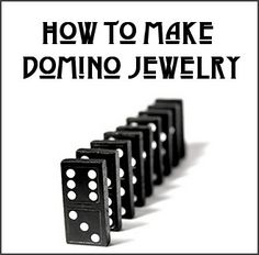 Dishfunctional Designs: How to Make Domino Jewelry absolutely fab!! gonna do this but with photos