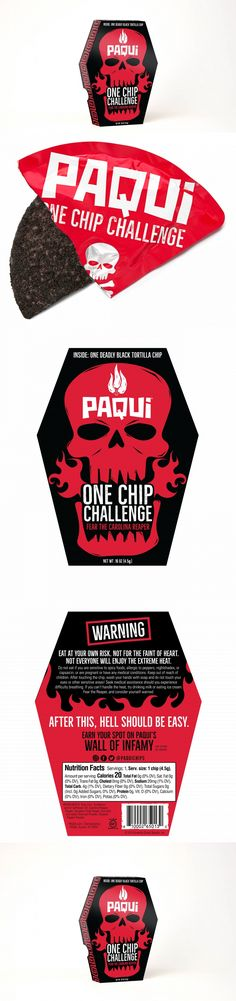 This Friday The 13th, Paqui Tempts Death With The Return Of The One Chip Challenge | Dieline
