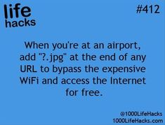 1000 Life Hacks: bypass expensive wifi access use ?jpg 1000 Life Hacks: bypass expensive wifi access use ? Simple Life Hacks, Useful Life Hacks, The More You Know, Good To Know, 1000 Lifehacks, Tips & Tricks, Things To Know, Just In Case, The Best