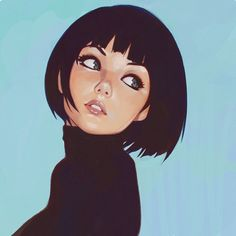 Original work, by ilya kuvshinov . Character Illustration Inspiration