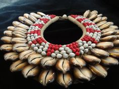 Gorgeous And Exotic Shell And Beads Necklace Savage Harvest Home Decor Interior Design Papua New Guinea Fashion Style by ubudexotica on Etsy