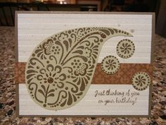 paisley birthday card - Buscar con Google