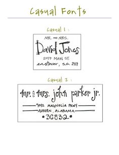 Custom Hand Addressed Envelopes for any Occasion- Casual Fonts. $0.95, via Etsy.