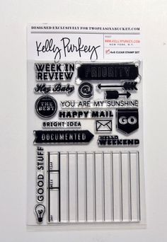 """""""Bright Idea"""" 4x6 Clear Stamp Set by Kelly Purkey - $14.99 ... A 2Peas Exclusive!"""