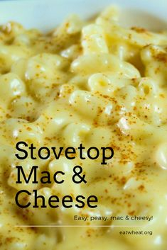 This homemade macaroni and cheese is a surefire hit for the entire family! Stovetop Mac And Cheese, Best Mac And Cheese, Macaroni And Cheese, Lunch Recipes, Easy Dinner Recipes, Pasta Recipes, All You Need Is, Surefire, 30 Minute Meals